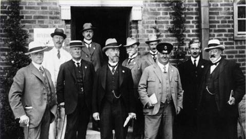 De som arbetade med 300 årsjubileet, ca 1919