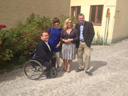 Jag (KD), Andrea Jovell (C), Helene Odenjung (FP) och Jonas Ransgård (M)