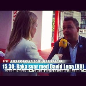 David Lega Expressens valstuga